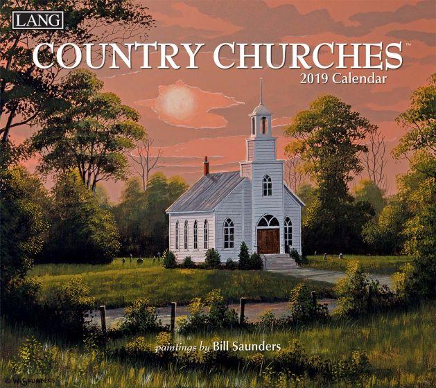 Country Churches 2019 Lang Kalender