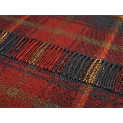 Dark Maple Bronte Pure Wool Plaid
