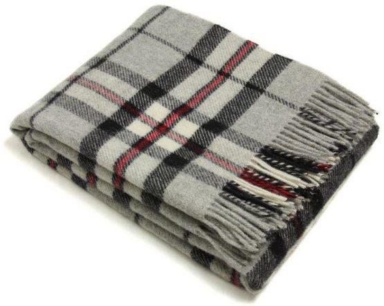 Grey Thompson Pure Wool Plaid Bronte