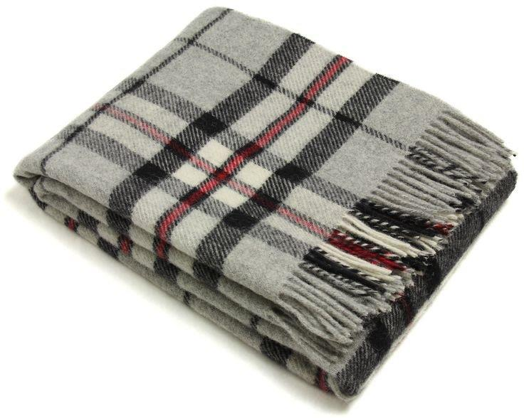 Grey Thompson Pure Wool Plaid Bronte