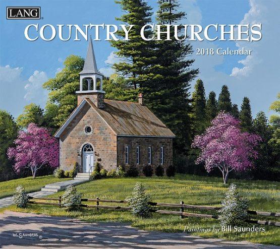 Country Churches 2018 Lang Kalender Royalshop.nl