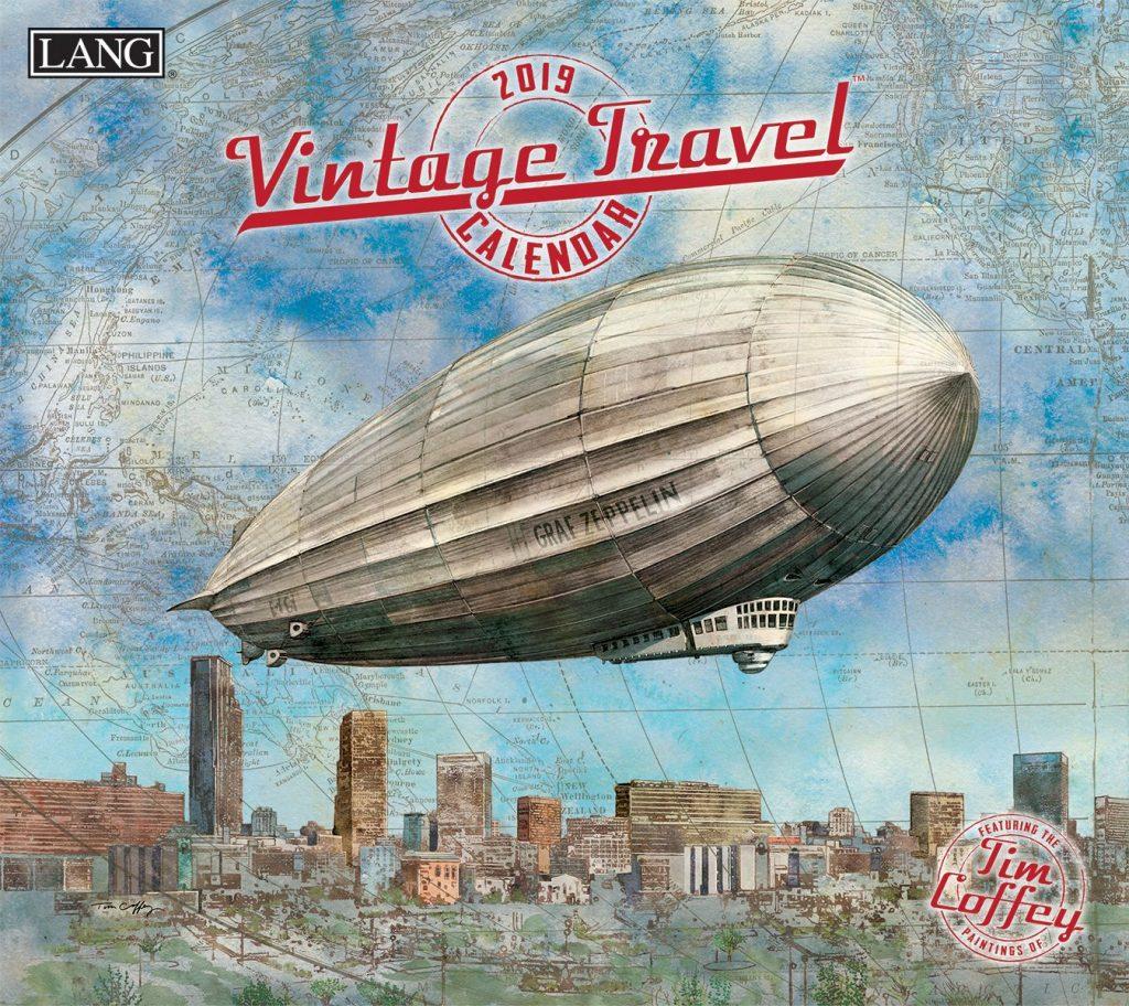 Vintage Travel 2019 Lang Kalender