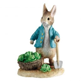 Peter Rabbit with Spade and Trug A6615