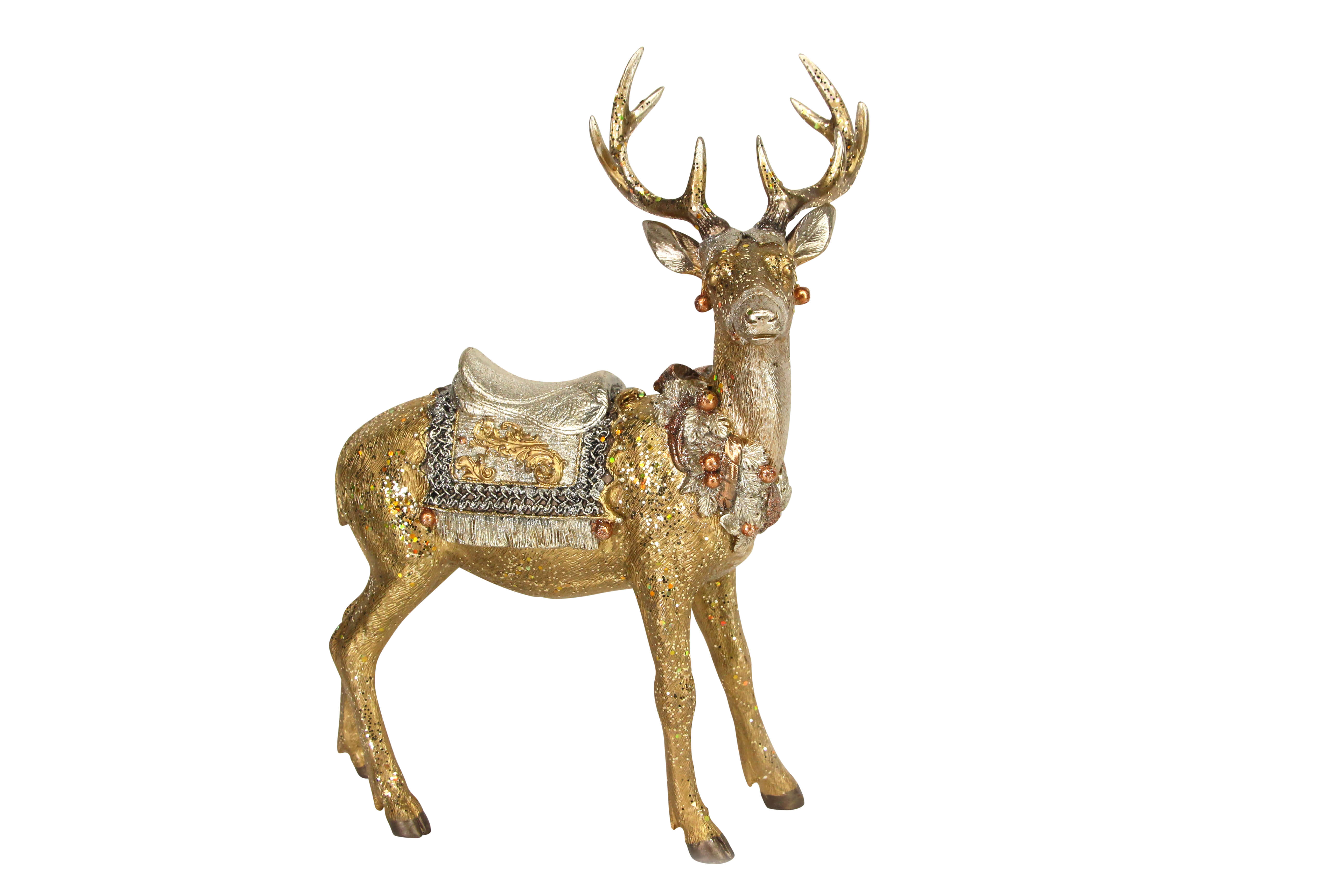 Gold Silver Stag 32449 Gisela Graham
