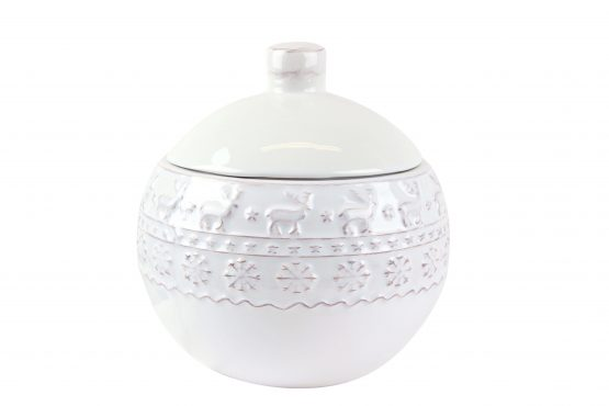 Snowflake Ceramic Cookie Pot 36965