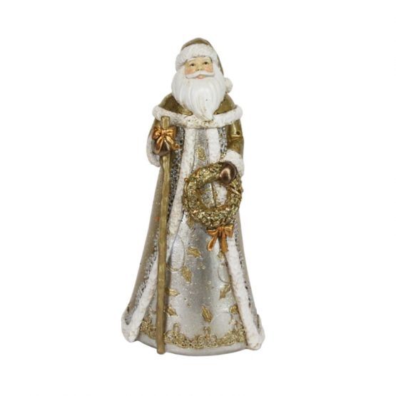 Classic Gold Silver Santa Gisela Graham 32799