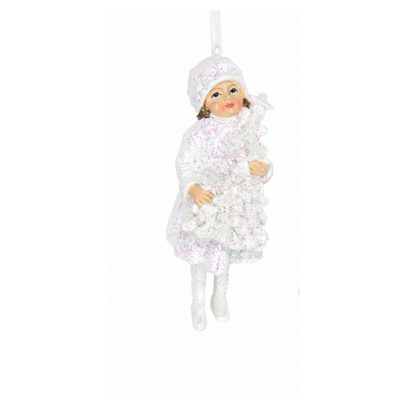Frosted Rose Garden Child Ornament Gisela Graham-1