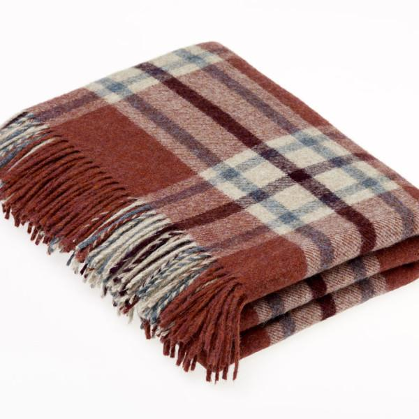 Huntingtower Shetland Throw Brick