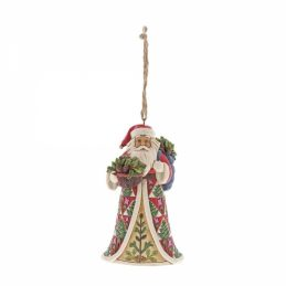 Pinecone Santa Ornament 6001506 Jim Shore