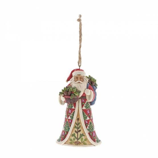 Pinecone Santa Ornament 6001506 Jim Shore