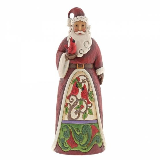 Santa Holding Cardinal Large Statue 6001467 Jim Shore