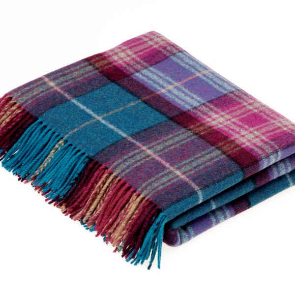 Threshfield Jade Merino Lambswool Plaid