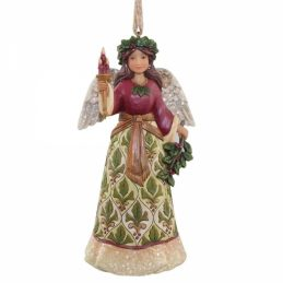 Victorian Angel with Candle Ornament 4058758 Jim Shore