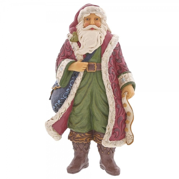 Victorian Santa with Satchel 6001426 Jim Shore