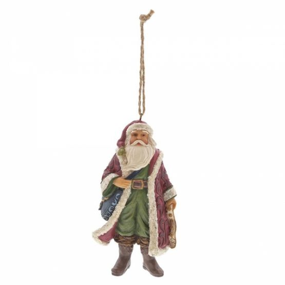 Victorian Santa with Satchel Ornament 6001432 Jim Shore
