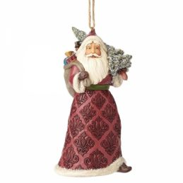 Victorian Santa with Tree Ornament 4058757 Jim Shore