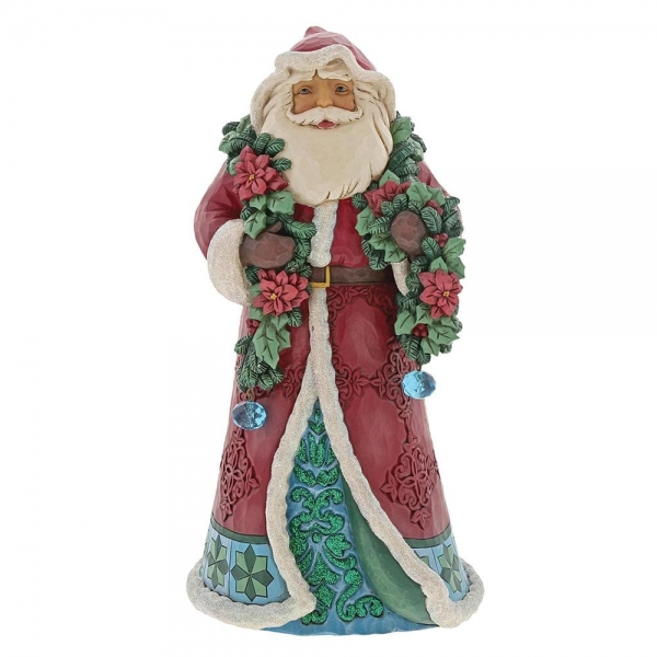 Winter Wonderland Santa with Garland 6001420 Jim Shore